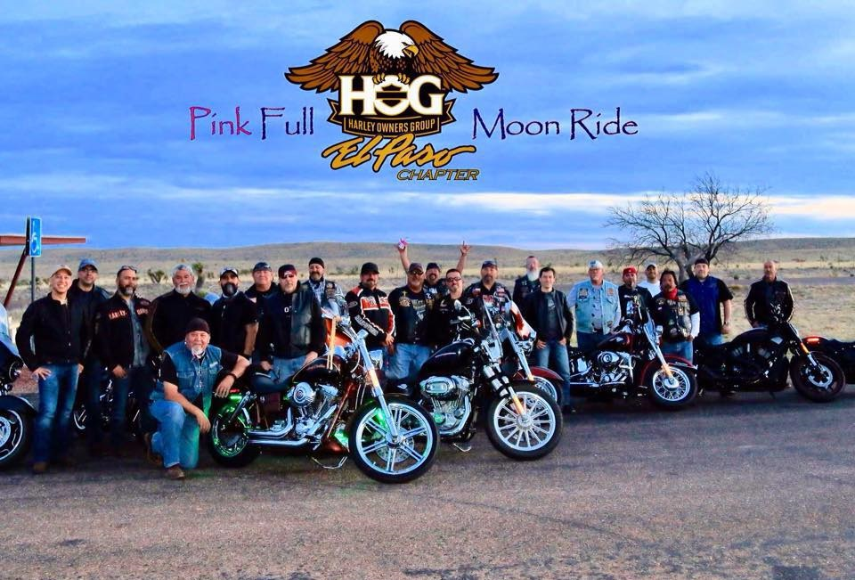 El Paso HOG on the Pink Full Moon ride