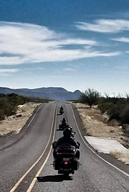 El Paso HOG members riding
